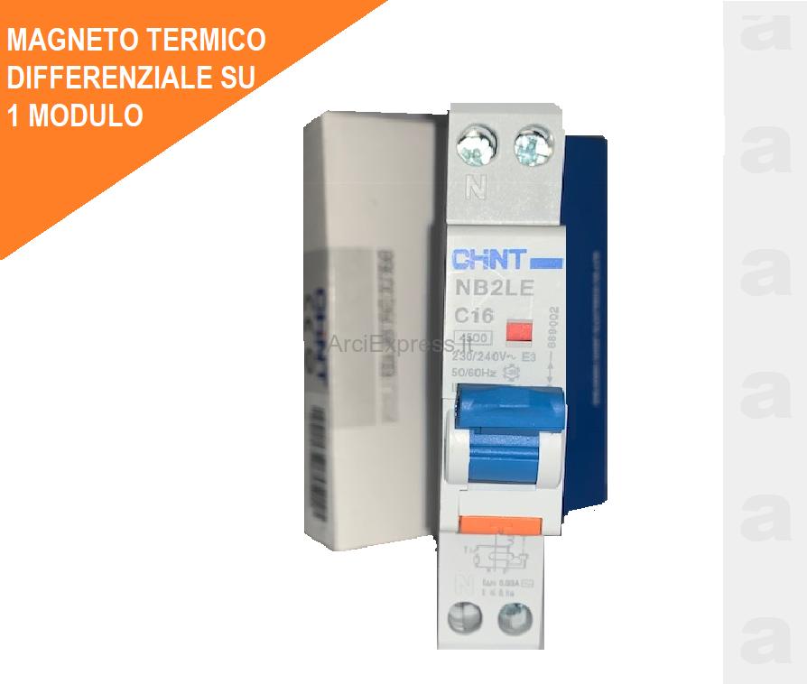CENTRALINO ELETTRICO CHINT DIFFERENZIALE+MAGNETOTERMICI+CENTRALINO PROMO OFFERTA